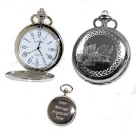 Welsh Pocket Watch Roman Numerals Quartz
